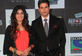 Mumbai: Television actors Rajiv Khandelwal and Kirtika Kamra during the launch of Sony TV`s new serial Reporters in Mumbai on April 9, 2015.  (Photo: IANS)