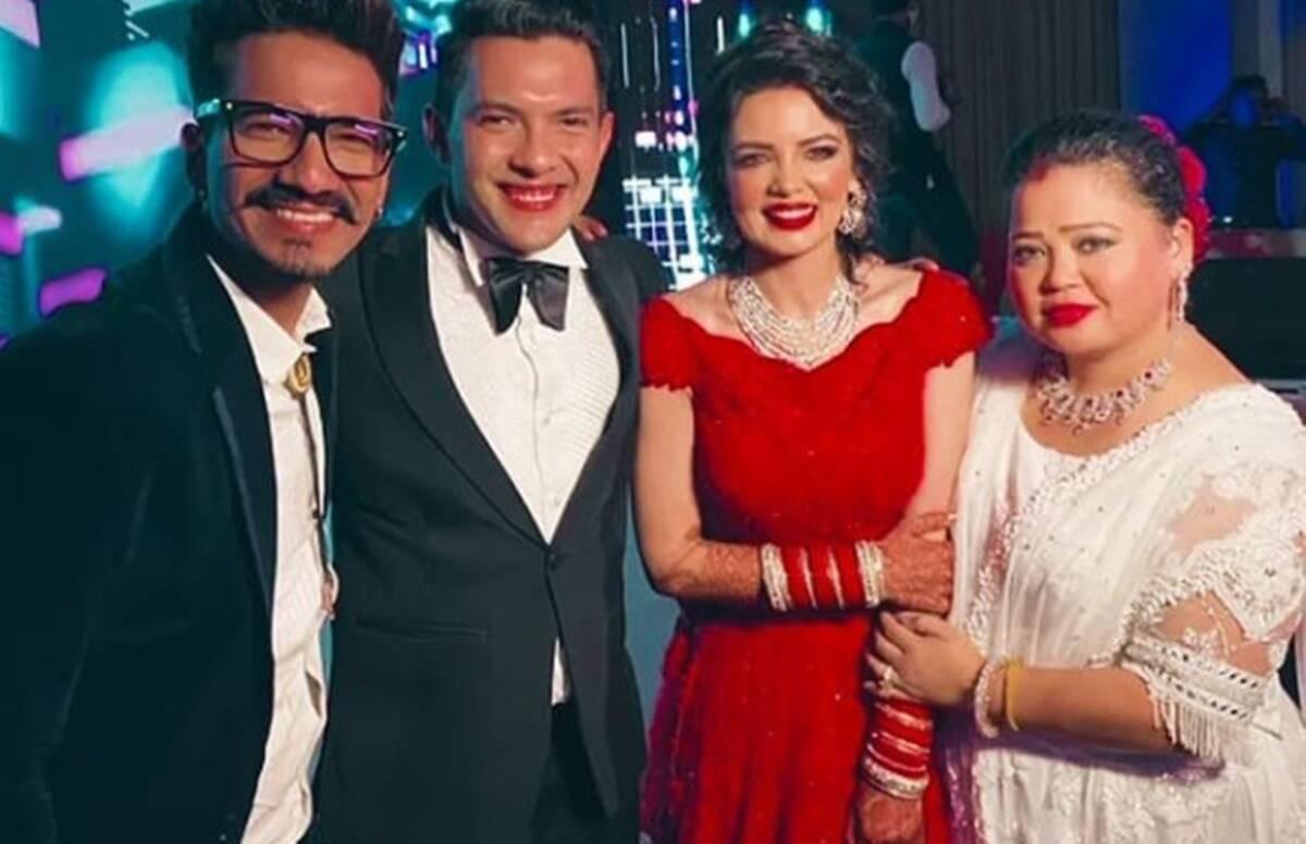 Bharti Singh And Haarsh Limbachiyaa Have A Gala Time At Aditya Narayan S Star Studded Reception Telly Updates